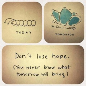 Hope, change and transformation