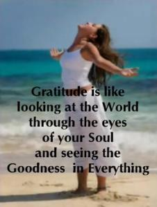 Living with an Attitude of Gratitude assists us in seeing the good in all things.