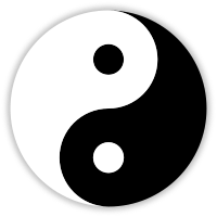 This symbol represents the balanced flow of energy in shadow, light, masculine and feminine. One cannot exist without the other and balance between the two is the ideal.