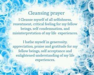Using cleansing prayers prior to meditation while creating alters clears the space and opens the channel for high frequency energy.