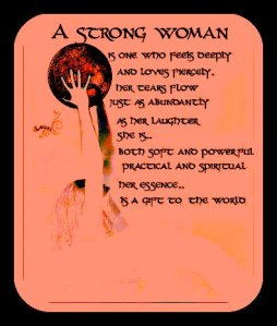 Strong women are empowered and walk in beauty and balance.