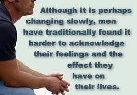 The social conditioning many men grow up with often inhibts their ability to access and express their feelings.
